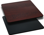 36'' Square Table Top with Black or Mahogany Reversible Laminate Top [XU-MBT-3636-GG]