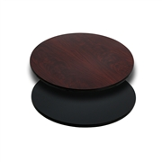 24'' Round Table Top with Black or Mahogany Reversible Laminate Top [XU-RD-24-MBT-GG]