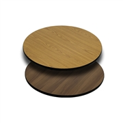 24'' Round Table Top with Natural or Walnut Reversible Laminate Top [XU-RD-24-WNT-GG]