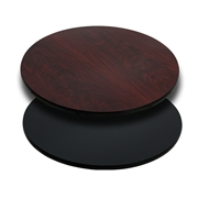 30'' Round Table Top with Black or Mahogany Reversible Laminate Top [XU-RD-30-MBT-GG]