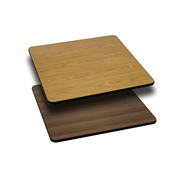 24'' Square Table Top with Natural or Walnut Reversible Laminate Top [XU-WNT-2424-GG]
