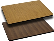 24'' x 30'' Rectangular Table Top with Natural or Walnut Reversible Laminate Top [XU-WNT-2430-GG]