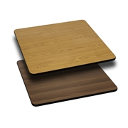 30'' Square Table Top with Natural or Walnut Reversible Laminate Top [XU-WNT-3030-GG]