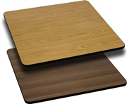 36'' Square Table Top with Natural or Walnut Reversible Laminate Top [XU-WNT-3636-GG]