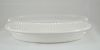 Oval Bowl Clear Lid-24 Oz - 250/Cs (2 X 125)