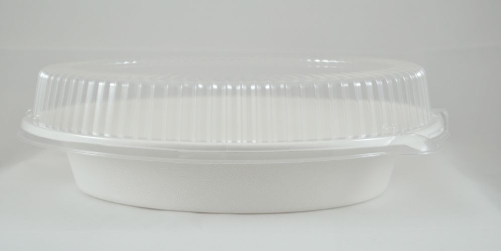Oval Bowl Clear Lid-32 Oz - 250/Cs (2 X 125)