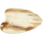 "Palm Leaf Plates - Cafe Oval 7"" x 5"" (25 Plates)"