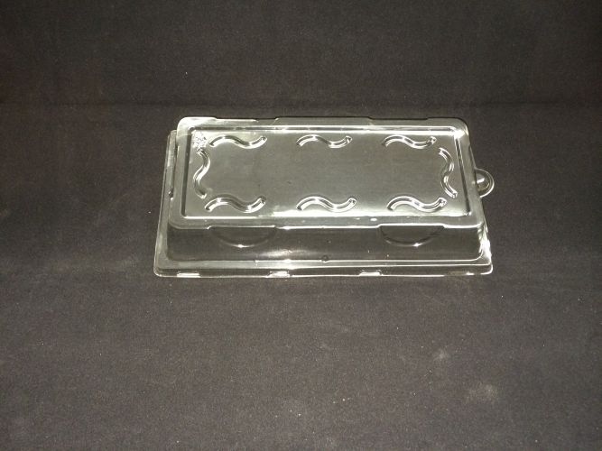"Rectangle Plate 10 X 5"" Clear Lid - 500/Cs (4 X 125)"