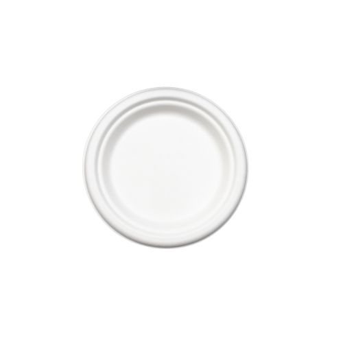 "Compostable 6"" Round Plate - 1000/Cs (8 X 125)"