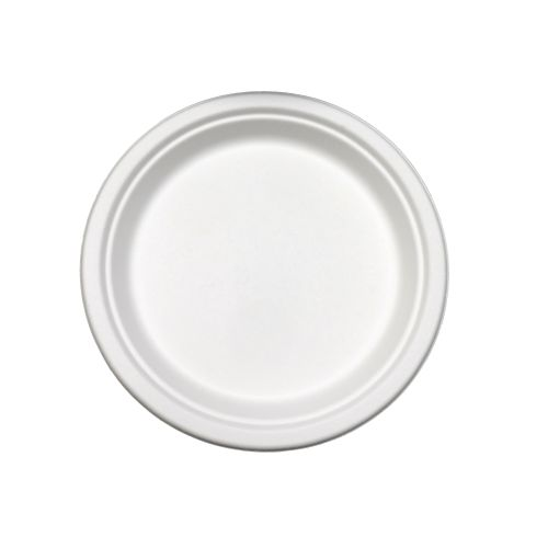 "Compostable 9"" Round Plate - 500/Cs (4 X 125)"