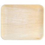 "Compostable Palm Leaf Rectangular 12.5"" Trays"