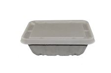 "Compostable Fiber Lid For 7 X 9"" Kraft  Container  - 200/Cs (4 X 50)"