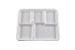 Compostable 5 Compartment Tray - 500/Cs (4 X 125)