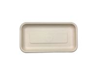 "Compostable Fiber Tray 8.3 X 4.5 X 0.6"" - 500/Cs (4 X 125)"