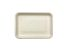 "Compostable Fiber Tray 8 X 5.75 X 0.6"" - 500/Cs (4 X 125)"