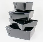 Takeout Togo Biopak Container Black #8 - 300/Cs