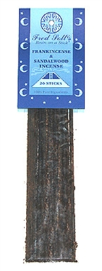 Frankincense & Sandalwood Incense: Plastic Package / Incense: 20 Sticks