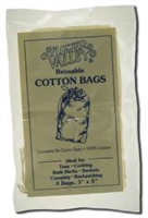 "Reuseable Cotton Tea Bags 3"" x 5"" : 3 cotton tea bags"
