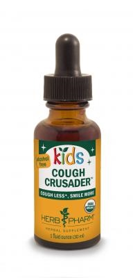 Cough Crusader for Kids: Dropper Bottle / Alcohol-Free Liquid: 1 Fluid Ounce