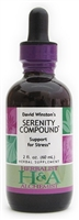 Serenity Compound: Dropper Bottle / Organic Alcohol Extract: 1 Fluid Ounce