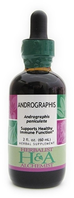 Andrographis: Dropper Bottle / Organic Alcohol Extract: 1 Fluid Ounce Only