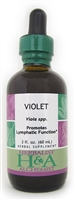 Violet Extract: Dropper Bottle / Organic Alcohol Extract: 2 Fluid Ounces
