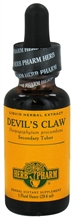 Devil's Claw: Dropper Bottle / Organic Alcoholic Extract: 1 Fluid Ounce