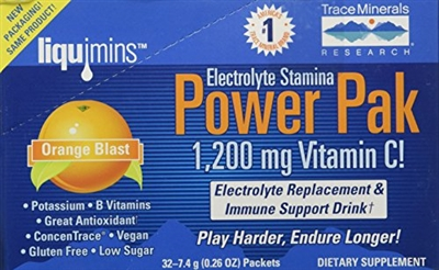 Electrolyte Stamina Power Paks, Orange Blast: Box / Packets: 32 Packets