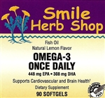 Omega-3 Once Daily 90's: Bottle / Softgels: 90 Softgels