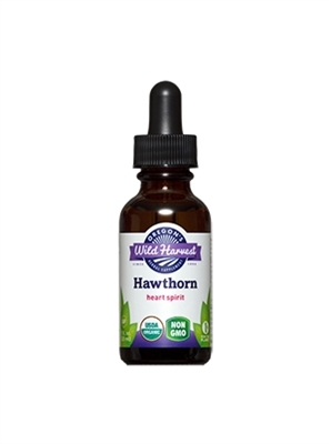 Hawthorn: Dropper Bottle / Organic Alcohol Extract: 1 Fluid Ounce