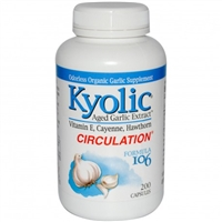 Kyolic Formula 106: Circulation: Bottle / Capsules: 200 Capsules
