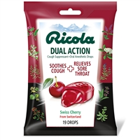 Ricola Dual Action Cough Drops, Cherry: Bag / Cough Drops: 19 Cough Drops