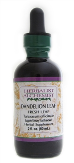 Dandelion Leaf: Dropper Bottle / Organic Alcohol Extract: 1 Fluid Ounce