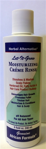 Let-it-Grow Moisturizing Creme Rinse: Bottle: 8 Fluid Ounces