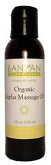 Organic Kapha Massage Oil: Bottle / Liquid Oil: 4 Fluid Ounces
