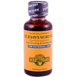 St. John's Wort Oil: Dropper Bottle / Organic Olive Oil Extract: 1 Fluid Ounce