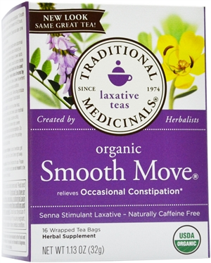 Organic Smooth Move: Boxed Tea / Individual Tea Bags: 16 Bags