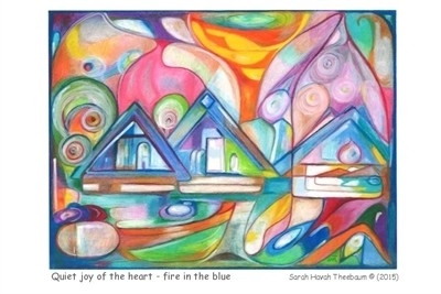 HEALING CARD: Quiet joy of the heart - fire in the blue