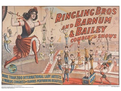 Ringling Lady Artists Poster
