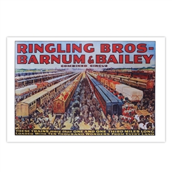 Ringling 100 Railway Cars Poster