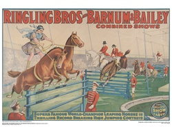 Ringling Leaping Horses Poster