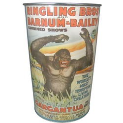 Ringling Bros. and Barnum & Bailey Poster Trash Can