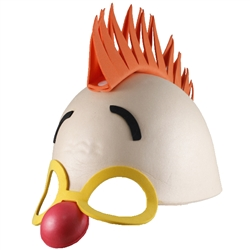 Circus Foam Mask Clown with Mohawk