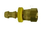 Brass Push on SAE/JIC Dual Seat Female Swivel