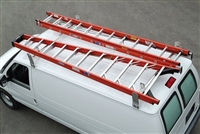 Cross Tread Aluminum Gutter Mount Van Rack