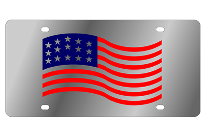 Eurosport Daytona American Flag License Plate