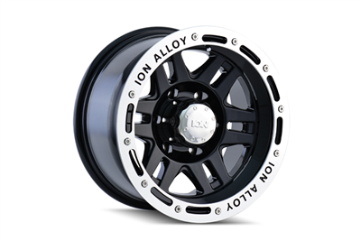 ION Wheels Style 133 Black / Machined Beadlock