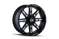 ION Wheels Style 184 Satin Black / Milled Spokes