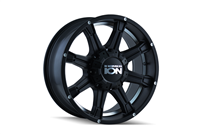 ION Wheels Style 196 Matte Black w/Machined Under-Cut