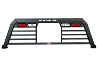 Magnum Low Pro Truck Rack With Window Cut Out and Lights